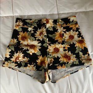 Sunflower High-Waisted Shorts ☆